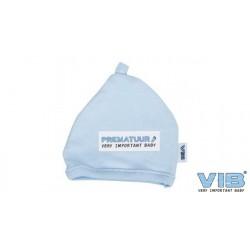 Bonnet bébé prématuré bleu